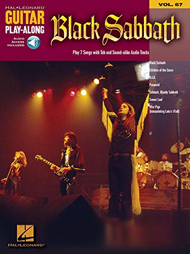 Guitar Play-Along Vol.067 Black Sabbath + Cd-