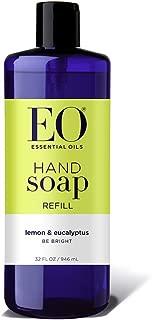 EO Botanical Liquid Hand Soap Refill, Lemon and Eucalyptus, 32 Ounce (Pack of 2)