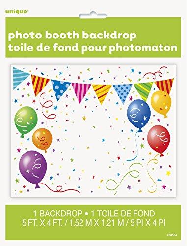 Unique 63554 Decoration Party-Deko, plastik, mehrfarbig
