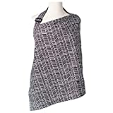 Kids N' Such Baby Nursing Cover for Breastfeeding with Sewn-in Burp Cloth & Matching Pouch, Herringbone