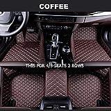 Shengyuan Encargo del piso del coche esteras for Maserati GranTurismo Ghibli Levante Quattroporte (Color Name : Coffee-4/5Seat)