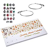 Red Co. Christmas Advent Charm Calendar with...