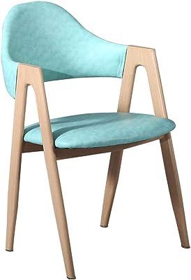 ダイニングチェア北欧ホームシンプルなデスクチェアティーコーヒーショップテーブルと椅子 (Color : A)