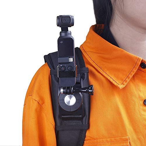 RCstyle Compatible with DJI Osmo Pocket Camera Stand Multi-Function Backpack Clip Holder Fix Strap Expansion 1/4 Screw Bracket