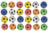 jameitop®⚽ Fußball 24 Stück / weich / Antistress / Softball Mix Farben Ø 6 cm Ball ⚽