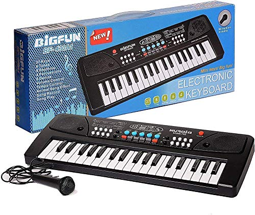 GUNATIT™ Kids Piano Keyboard, Piano for Kids with Microphone Portable Electronic Keyboards for Beginners 37 Keys Musical Toys Pianos for Girls Boys Ages 3-8 (Big Fun 37 Key Keyboard Piano)