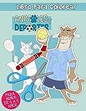 Animales y deportes: Libro de Colorear recortable para Niños de 4 a 8 Años (Plastifikes)