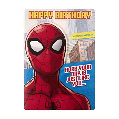 Hallmark Geburtstagskarte für Kinder, Spider-Man