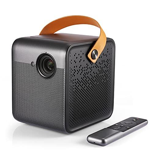 Formovie Dice Smart Portable Projector 1080P FHD, 700 ANSI Lumens, Auto Focus, 200 pollici, Dolby Audio Speaker 360°, adatto per Android TV 9.0 con App 5000