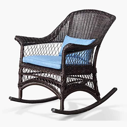 XLSQW Bequeme Schaukelstuhl Lehnstuhl Entspannen, PE Rattan Patio-Möbel Gartenstühle Lounge Chair Alle Aluminium Rahmen, für Indoor Outdoor Office Home