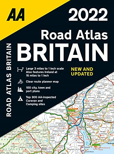 AA Road Atlas Britain 2022 Spiral Bound (AA Road Atlas Britain) (Road Atlas Great Britain 2022)