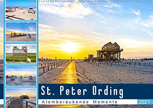 St. Peter Ording - Atemberaubende Momente (Wandkalender 2021 DIN A2 quer)