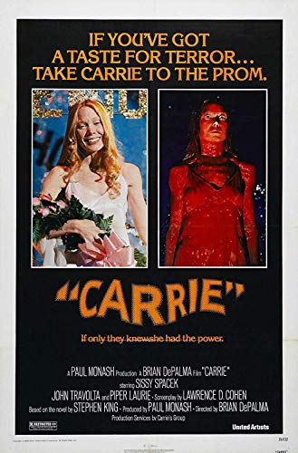 Peels4u Carrie 1976 Cult Vintage Horror Film Poster Stampa di Stephen King A3 A4 (A3)
