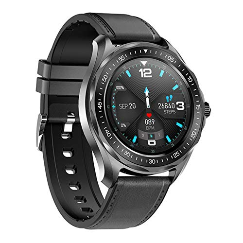 ZWW Fitness Tracker Clock S09 Smart Reloj Tarifa Cardíaca Presión Arterial Monitor Tiempo Smart Watch Moda IP68 Impermeable,C