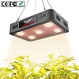 FSGTEK 1500w Full Spectrum COB LED Grow Light for Indoor Plants, Veg and Flower, with UV & IR Bulbs Led Plant Light, Hanging Hook Kits (Black)