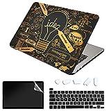 SanMuFly Funda compatible con MacBook Pro 13 pulgadas 2020-2016 Release A2338 M1 A2289 A2251 A2159 A1989 A1706, Bronzing Hard Plastic Shell Case para MacBook Pro de 13 pulgadas con barra táctil USB-C.