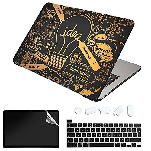 """SanMuFly - Custodia compatibile per MacBook Pro 13"""" 2020-2016 Release A2338 M1 A2289 A2251 A2159 A1989 A1706, in plastica rigida bronzante per MacBook Pro 13"""" con Touch Bar USB-C"""