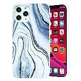 Yoedge Funda de Silicone para Apple iPhone 5 / 5S (4'), Mate Blanco Silicona TPU Moda Dibujos Carcasa, Suave Antigolpes Bumper Protectora Case para iPhone 5 - Mármol 1
