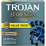 Best Condoms - Trojan Bareskin Thin Premium Lubricated Condoms - 24 Review