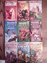 The First Xanth Novels: 1. A Spell For Chameleon; 2. The Source of Magic; 3. Castle Roonga; 4. Centaur Aisle; 5. Ogre, Ogre; 6. Night Mare; 7. Dragon On A Pedestal, 8. Crewel Lye; 9. Golem In the Gears (The Magic of Xanth)