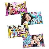 Kids Euroswan Cojín Surtido de 16 x 22 cm, Estampado Soy Luna, Algodón, Multicolor