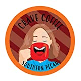Crave Flavored Coffee Pods, Compatible with 2.0 K-Cup Brewers, Southern Pecan, 40 Count