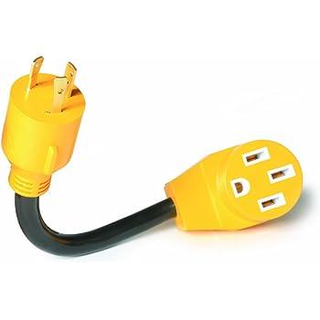 Amazon Com Camco 55412 12 L5 30 30 Amp Plug To 14 50 50 Amp Receptacle Powergrip Generator Adapter Automotive