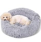 "INTURN Dog Cat Bed Soft Comfortable Faux Fur Donut Cuddler pet Bean Bags Dog Fluffy Bed 28"""