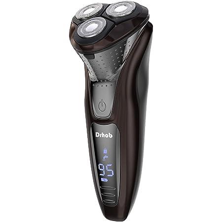 シェーバー メンズ 電気シェーバー ひげそり 3枚刃 回転式 USB充電式 IPX7防水 お風呂剃り可 LCDディスプレイ表示 ロック機能 トリマー付き 一年間メーカー保証