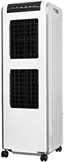Wghz Enfriador de Aire evaporativo portátil, 3 velocidades Velocidad del Viento Ventilador portátil 3 en 1 Enfriador de Aire portátil multifunción para el hogar con Blanco y Negro 34X34X104CM