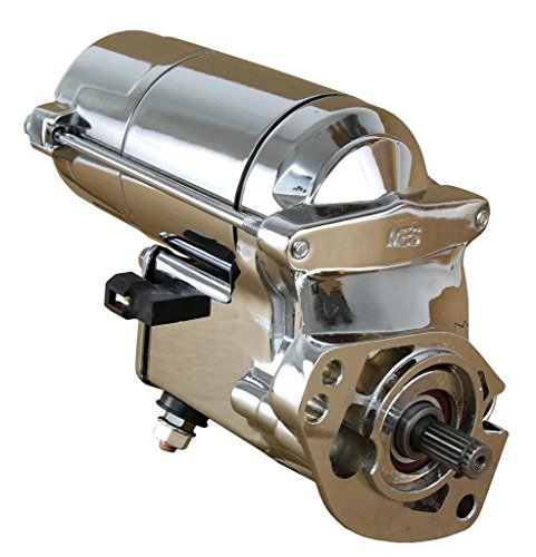 Rareelectrical CHROME HIGH TORQUE STARTER COMPATIBLE WITH HARLEY DAVIDSON FXSTI FXSTS FXSTSB SOFTAIL STANDARD