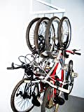 Wall Mounted Bike Rack – Holds 4 Bicycles – Home & Garage Bikes Wall Hanger Mount
