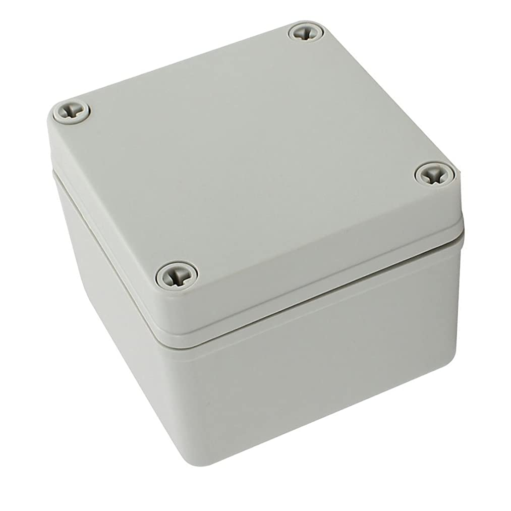 YXQ 100 x 100 x 75mm Electrical Project Case Junction Box IP65 Waterproof ABS DIY Power Outdoor Enclosure Gray (4 x 4 x 3 inches)