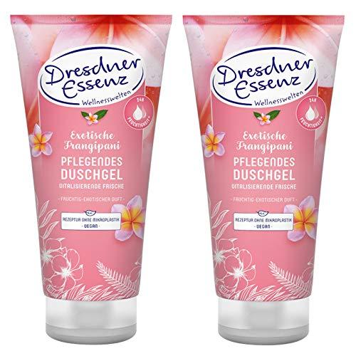 2er Pack Dresdner Essenz Pflegedusche Exotische Frangipani 2 x 200 ml Duschbad vegan