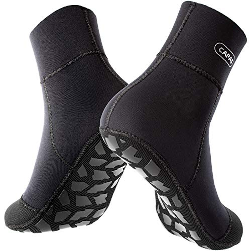 CAPAS 2mm Neoprene Wetsuit Socks Beach Water Sports Keep Warm Sand Protection