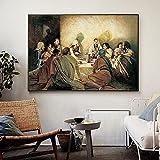 Cuadros e impresiones 40x60cm sin marco La Última Cena Da Vinci Famoso Jesús Impresiones religiosas Cuadros de arte de pared para la decoración del hogar de la sala de estar