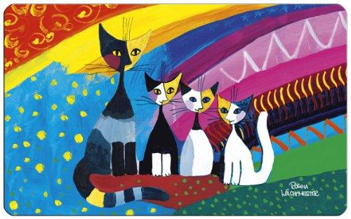 Fridolin Frühstücksbrettchen Rosina Wachtmeister-Under The Rainbow, Kunststoff, bunt, 23.5x0.2x14.5 cm
