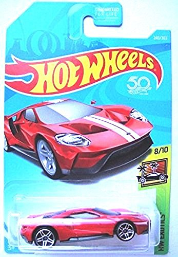 Hot Wheels 2018 50th Anniversary HW Exotics '17 Ford GT 240/365, Red