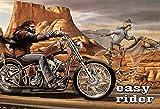 Froy Per Moto Easy Rider, Wand Blechschild Retro Eisen