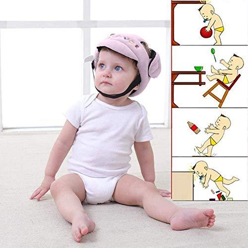 Casque de sécurité réglable pour bébé, anti-chocs, anti-chute, coussin de protection de la tête respirant.