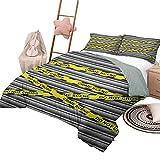 Quilt Set für Kinder Polka Dots Leichte Schlafzimmer Tagesdecke für die ganze Saison Klassische Polka Dots Muster Modern Style Navy Boys Thema Retro Artistic Print Blau Weiß