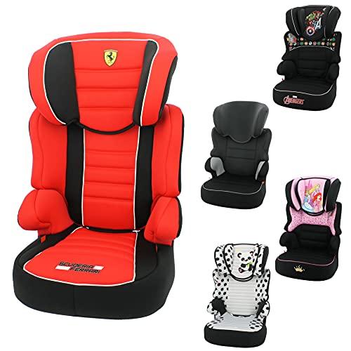 Seggiolino auto Ferrari Befix Gruppo 2-3 (15-36kg) - produzione francese 100% - protezioni laterali - 4 stelle test ADAC/TCS