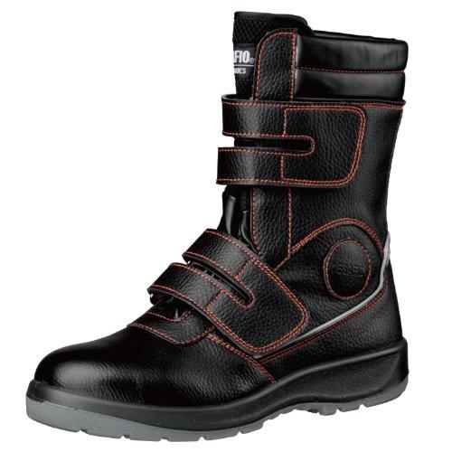 [ミドリ安全] 安全作業靴 JSAA認定 長編上 マジックタイプ プロスニーカー DSF35 ブラック 25.5