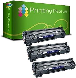 Printing Pleasure 3 Toner kompatibel zu CF283A 83A für HP Laserjet Pro MFP M125a M125nw M125rnw M126a M127fn M127fw M128fn M128fw M225dn M225dw M201dw M201n M202dw M202n   Schwarz, hohe Kapazität