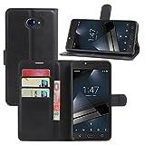 HualuBro Funda Vodafone Smart Ultra 7, [Protección Todo Alrededor] Premium PU Cuero Leather Billetera Wallet Carcasa Case Flip Cover para Vodafone Smart Ultra 7 Smartphone
