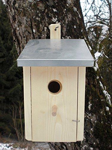 Dekorativer Nistkasten (NK6) Zinkdach-Vogelhaus-Vogelhäuschen-sauberste Verarbeitung-Vogelhaus Garten Deko