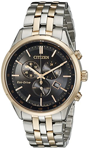 Citizen Herren Armbanduhr, 42 mm, Chronograph, Datum, Mineral, Glas, AT2146-59E
