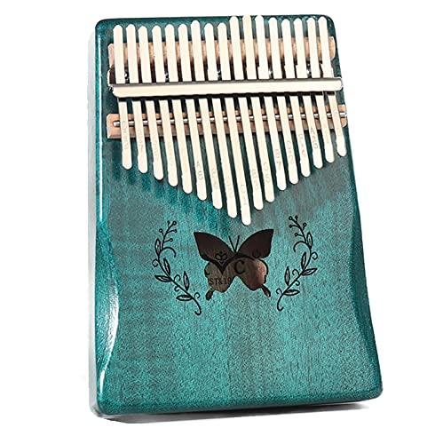 ATRNA Kalimba 17 Teclas, Piano de Pulgar Marimbas Piano de Dedo de Madera Africano Portátil para Niños y Adultos Principiantes