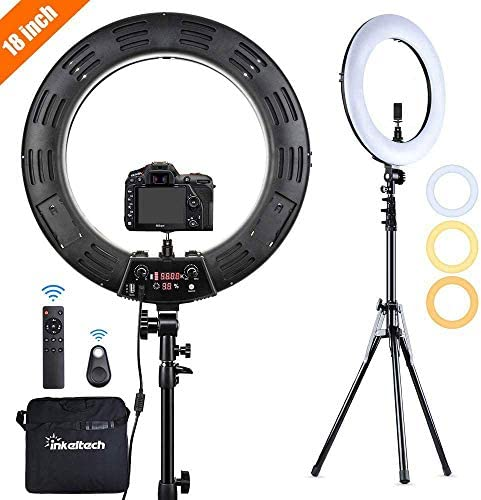 Inkeltech 18-in LED Ring Light Photo Kit