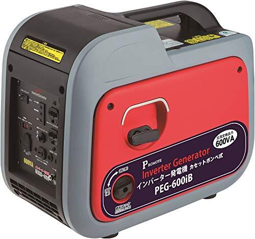 【PROMOTE】PEG-600iB インバーター発電機 カセットボンベ式 0.6kVA 並列運転可